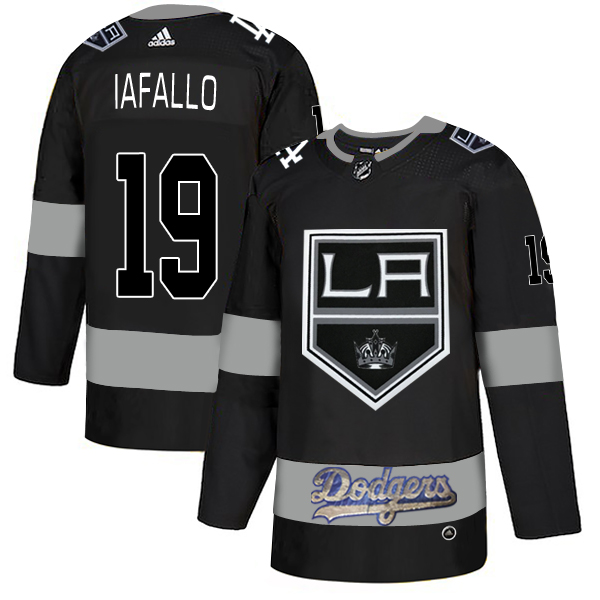 LA Kings With Dodgers 19 Alex Iafallo Black Adidas Jersey