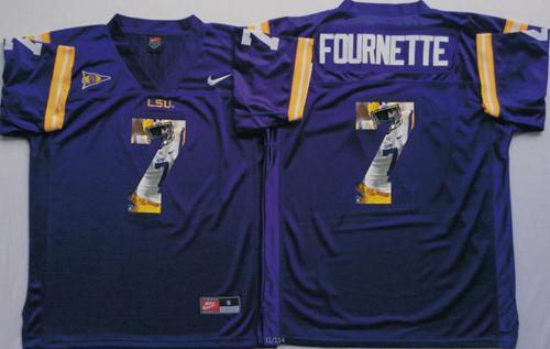 LSU Tigers #7 Leonard Fournette Purple Player Fashion Stitched NCAA Jersey