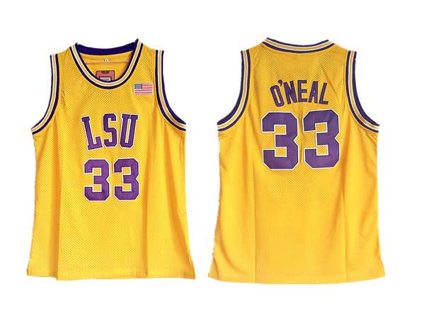 LSU Tigers 33 Shaquille O'Neal Gold College Basketball Jersey