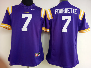 LSU Tigers 7 Leonard Fournette Purple College Football Jersey