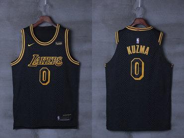 Lakers 0 Kyle Kuzma Black City Edition Nike Authentic Jersey