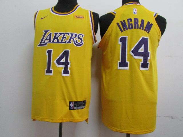 Lakers 14 Brandon Ingram Gold 2018-19 Nike Authentic Jersey