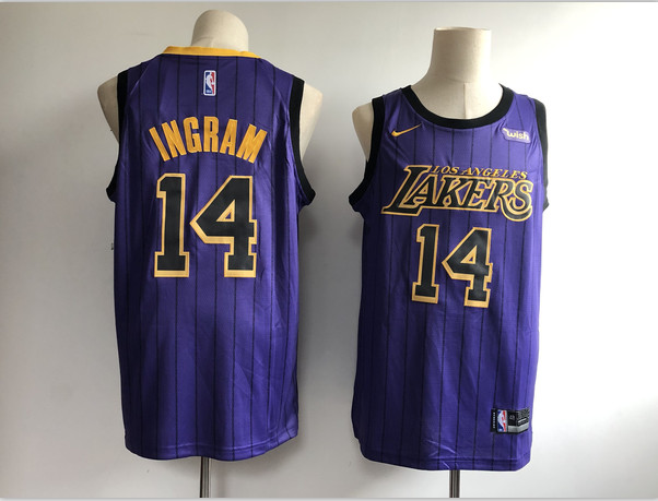 Lakers 14 Brandon Ingram Purple 2018-19 City Edition Nike Swingman Jersey