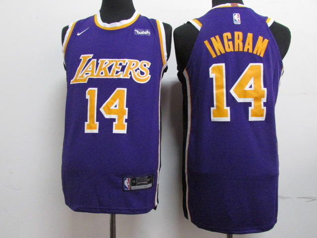 Lakers 14 Brandon Ingram Purple 2018-19 Nike Authentic Jersey