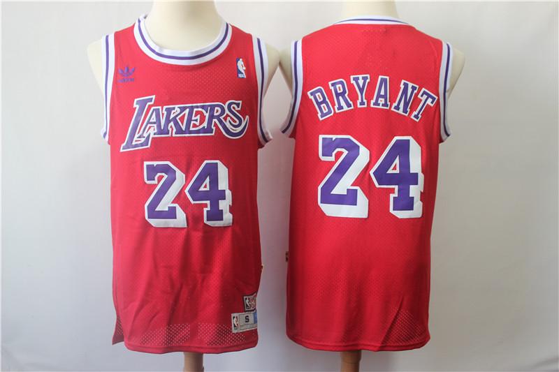 Lakers 24 Kobe Bryant Red Hardwood Classics Jersey