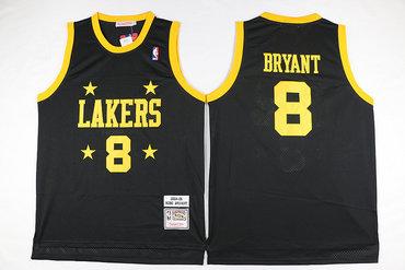 Lakers 8 Kobe Bryant Black 2004-05 Hardwood Classics Jersey
