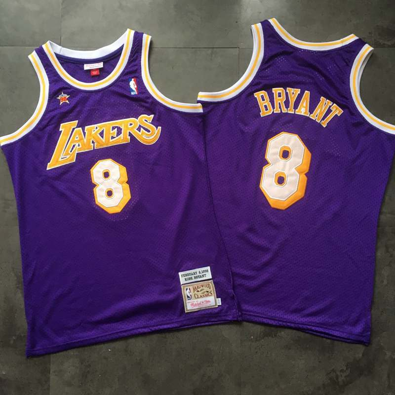 Lakers 8 Kobe Bryant Purple 1998 Hardwood Classics Jersey
