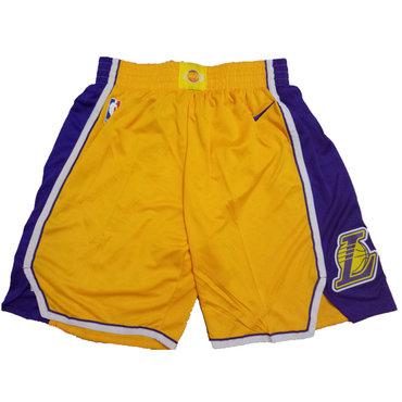 Lakers Yellow Icon Nike Swingman Shorts