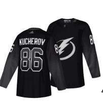 Lightning #86 Nikita Kucherov Black Alternate Adidas Jersey