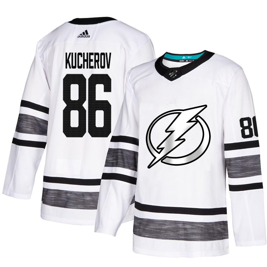 Lightning #86 Nikita Kucherov White Authentic 2019 All-Star Stitched Hockey Jersey
