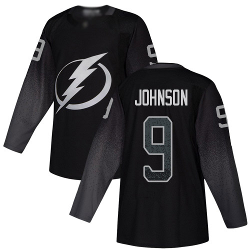 Lightning #9 Tyler Johnson Black Alternate Authentic Stitched Youth Hockey Jersey