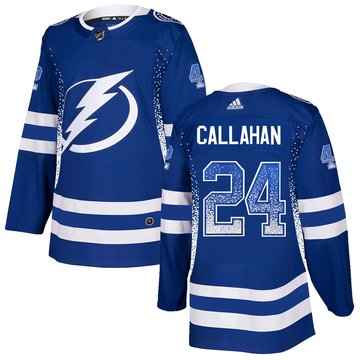 Lightning 24 Ryan Callahan Blue Drift Fashion Adidas Jersey
