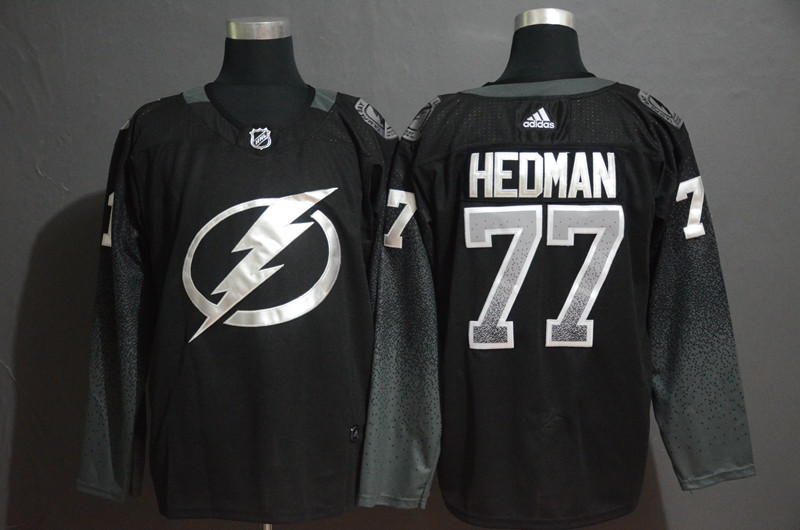 Lightning 77 Victor Hedman Black Alternate Adidas Jersey