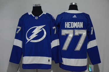 Lightning 77 Victor Hedman Blue Adidas Jersey