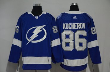 Lightning 86 Nikita Kucherov Blue Adidas Jersey