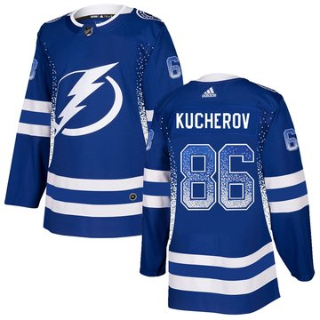 Lightning 86 Nikita Kucherov Blue Drift Fashion Adidas Jersey