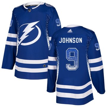 Lightning 9 Tyler Johnson Blue Drift Fashion Adidas Jersey