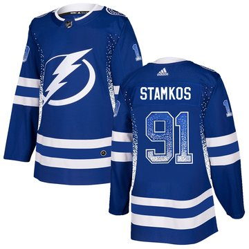 Lightning 91 Steven Stamkos Blue Drift Fashion Adidas Jersey