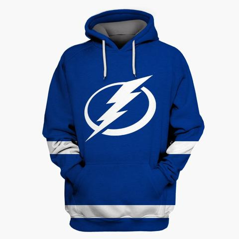Lightning Blue All Stitched Hooded Sweatshirt