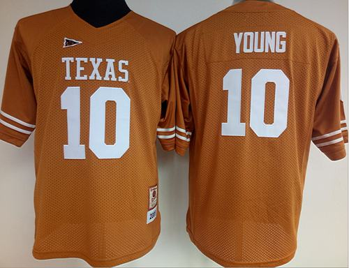 Longhorns #10 Vince Young Orange Women's Stitched NCAA Jersey