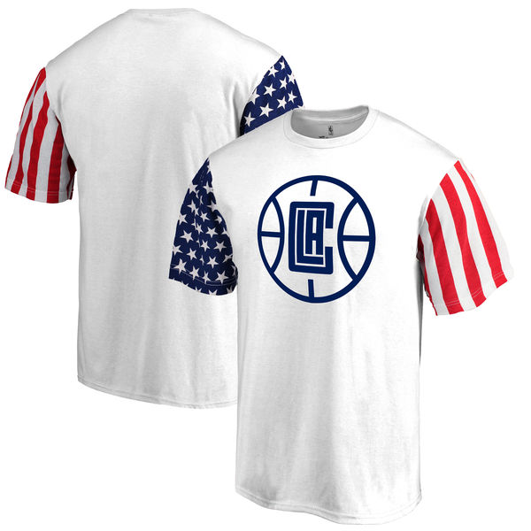 Los Angeles Clippers Fanatics Branded Stars & Stripes T-Shirt White