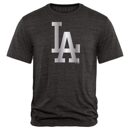 Los Angeles Dodgers Fanatics Apparel Platinum Collection Tri-Blend T-Shirt Black