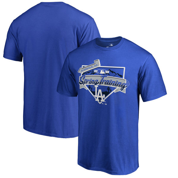 Los Angeles Dodgers Fanatics Branded 2017 MLB Spring Training Logo T Shirt Royal