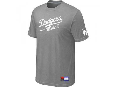 Los Angeles Dodgers NEW Short Sleeve Practice T-Shirt L.Grey