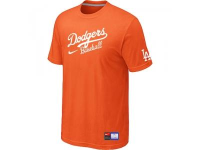 Los Angeles Dodgers NEW Short Sleeve Practice T-Shirt Orange