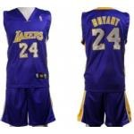 Los Angeles Lakers #24 Bryant Purple Suit