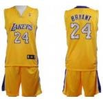 Los Angeles Lakers #24 Bryant Yellow Suit