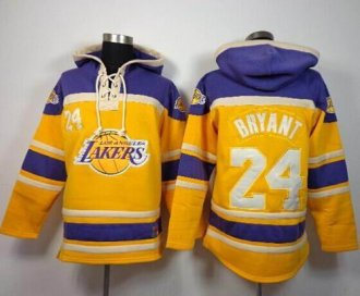 Los Angeles Lakers #24 Kobe Bryant Gold Sawyer Hooded Sweatshirt NBA Hoodie