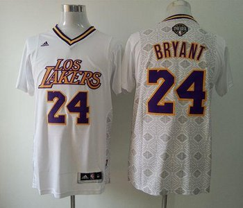 Los Angeles Lakers #24 Kobe Bryant White New Latin Nights NBA Jersey