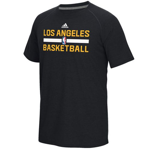 Los Angeles Lakers Adidas On-Court Climalite Ultimate T-Shirt Black