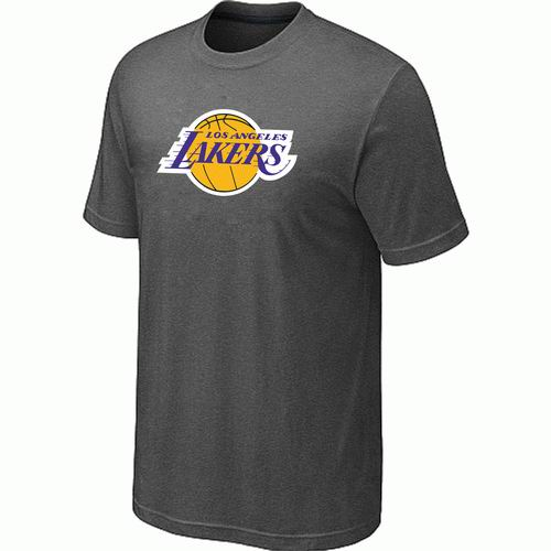 Los Angeles Lakers Big & Tall Primary Logo D.Grey T-Shirt