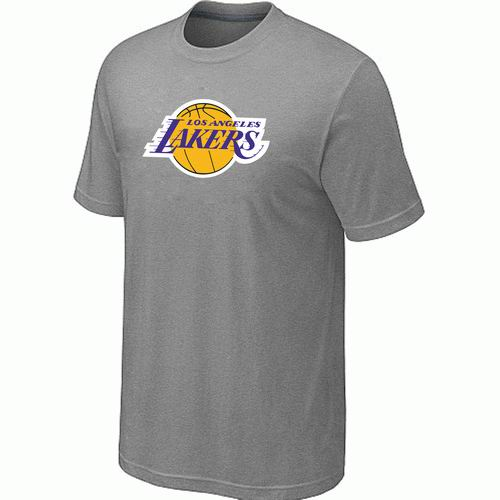 Los Angeles Lakers Big & Tall Primary Logo L.Grey T-Shirt