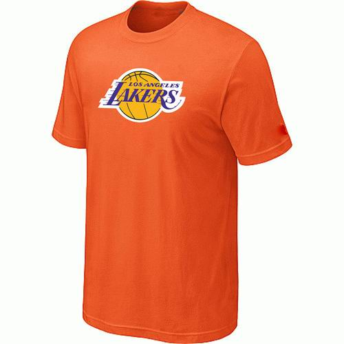 Los Angeles Lakers Big & Tall Primary Logo Orange T-Shirt
