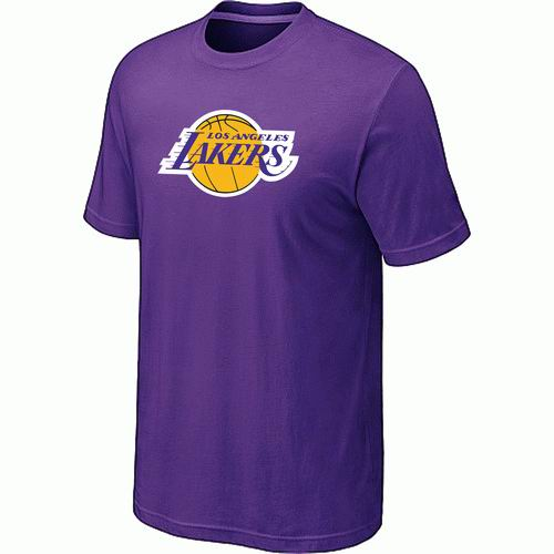 Los Angeles Lakers Big & Tall Primary Logo Purple T-Shirt