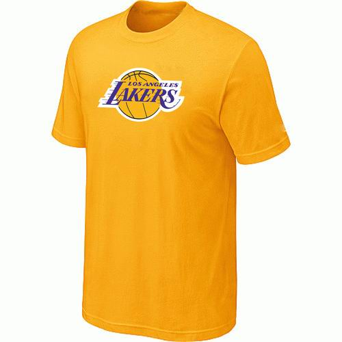 Los Angeles Lakers Big & Tall Primary Logo Yellow T-Shirt