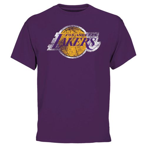 Los Angeles Lakers Big & Tall Team T-Shirt Purple