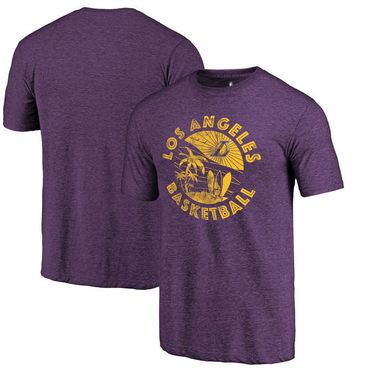 Los Angeles Lakers Fanatics Branded Purple LA Surf Hometown Collection Tri-Blend T-Shirt