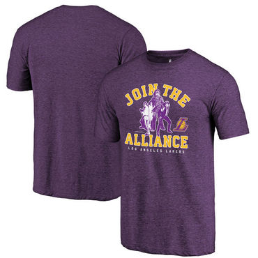 Los Angeles Lakers Fanatics Branded Purple Star Wars Alliance Tri-Blend T-Shirt
