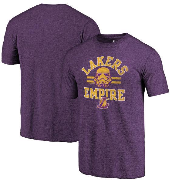 Los Angeles Lakers Fanatics Branded Purple Star Wars Empire Tri-Blend T-Shirt