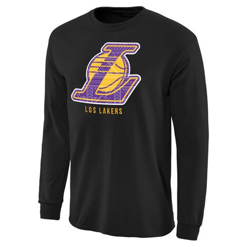 Los Angeles Lakers Noches Enebea Long Sleeves T-Shirt Black
