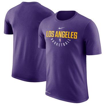Los Angeles Lakers Purple Nike Practice Performance T-Shirt