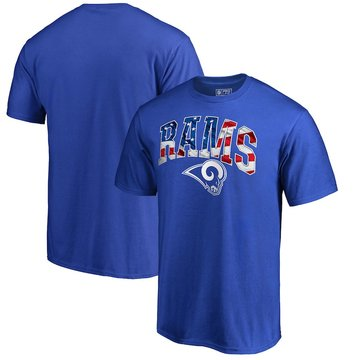 Los Angeles Rams NFL Pro Line By Fanatics Branded Banner Wave Big & Tall T-Shirt Royal