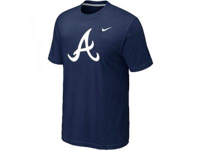 MLB Atlanta Braves Heathered NEW D.Blue Blended T-Shirt