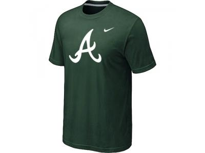 MLB Atlanta Braves Heathered NEW D.Green Blended T-Shirt