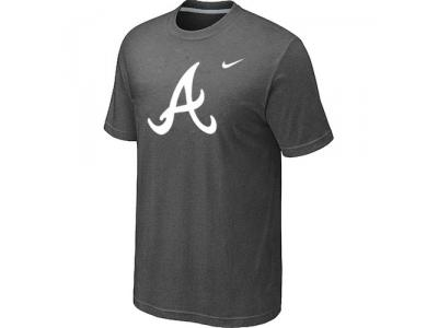 MLB Atlanta Braves Heathered NEW D.Grey Blended T-Shirt