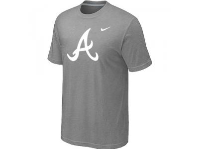 MLB Atlanta Braves Heathered NEW L.Grey Blended T-Shirt